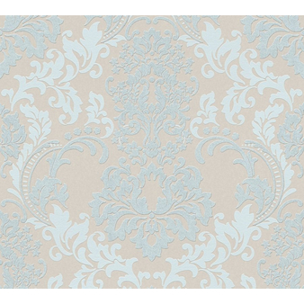 A.S Création Neue Bude 2.0 3617-14 L Vliestapete Blumen blau braun beige Glitzer